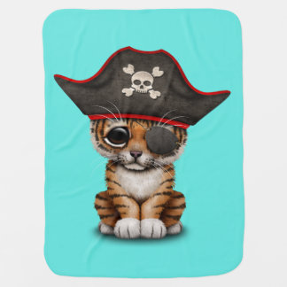 Cute Baby Tiger Cub Pirate Swaddle Blanket