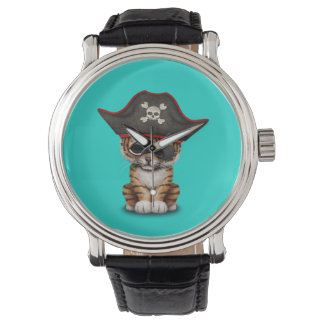 Cute Baby Tiger Cub Pirate Watch