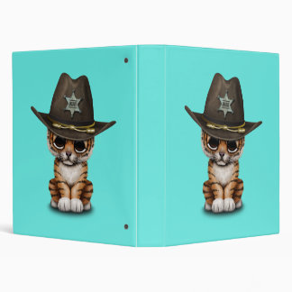 Cute Baby Tiger Cub Sheriff 3 Ring Binder