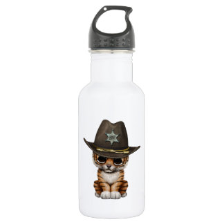 Cute Baby Tiger Cub Sheriff 532 Ml Water Bottle