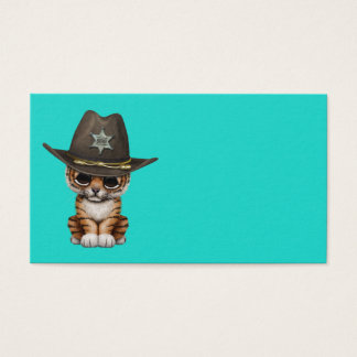 Cute Baby Tiger Cub Sheriff Business Card