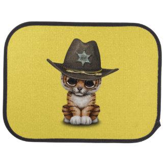 Cute Baby Tiger Cub Sheriff Car Mat
