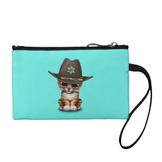 Cute Baby Tiger Cub Sheriff Change Purse