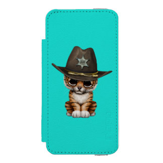Cute Baby Tiger Cub Sheriff Incipio Watson™ iPhone 5 Wallet Case