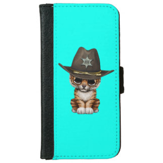 Cute Baby Tiger Cub Sheriff iPhone 6 Wallet Case