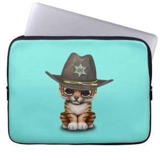 Cute Baby Tiger Cub Sheriff Laptop Sleeve