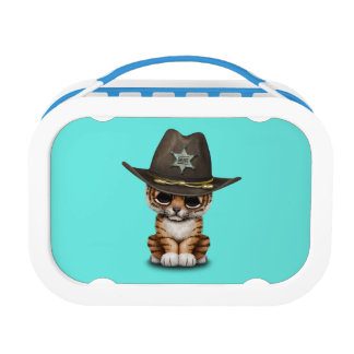 Cute Baby Tiger Cub Sheriff Lunch Boxes