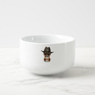 Cute Baby Tiger Cub Sheriff Soup Mug
