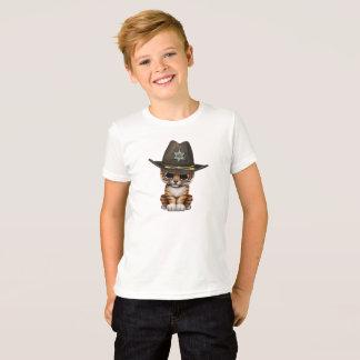 Cute Baby Tiger Cub Sheriff T-Shirt