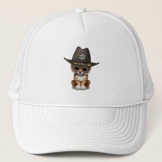 Cute Baby Tiger Cub Sheriff Trucker Hat