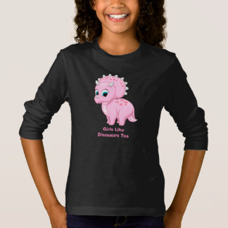 Cute Baby Triceratops Girls Like Dinosaurs Too T-Shirt