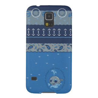 Cute baby whale fun illustration sea style cases for galaxy s5
