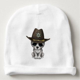 Cute Baby Wolf Sheriff Baby Beanie