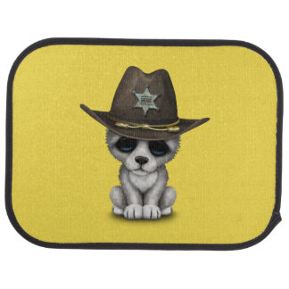 Cute Baby Wolf Sheriff Car Mat