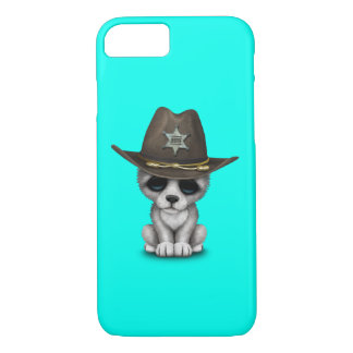 Cute Baby Wolf Sheriff Case-Mate iPhone Case