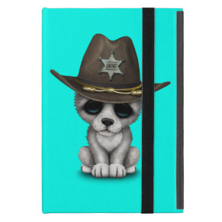 Cute Baby Wolf Sheriff Cases For iPad Mini