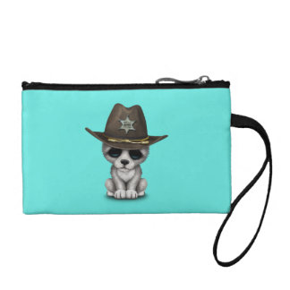 Cute Baby Wolf Sheriff Coin Wallets