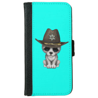 Cute Baby Wolf Sheriff iPhone 6 Wallet Case