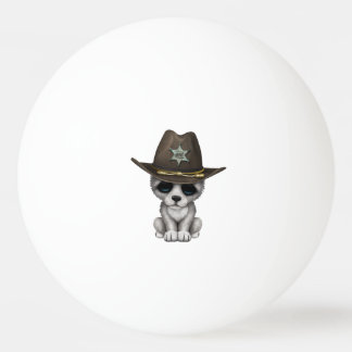 Cute Baby Wolf Sheriff Ping Pong Ball