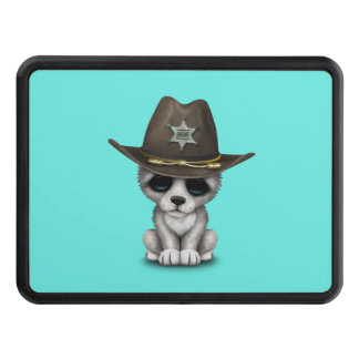 Cute Baby Wolf Sheriff Trailer Hitch Cover