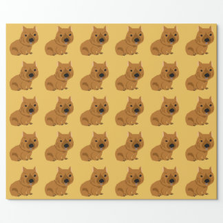 Cute Baby Wombat Design Wrapping Paper