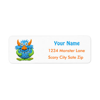 Cute Baby's 1st Birthday Halloween Monster Party Return Address Label