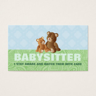Cute Babysitter Business Cards