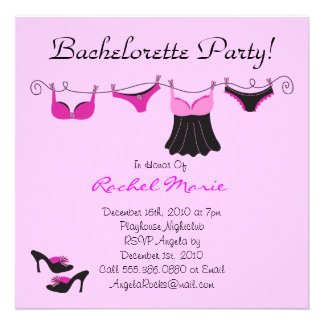 Cute Bachelorette Party Personalized Announcements