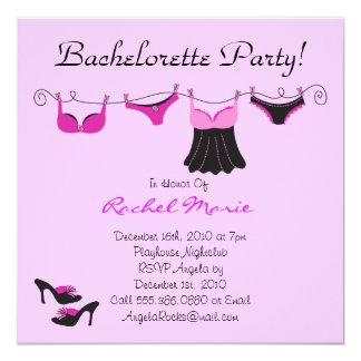 Cute Bachelorette Party 5.25x5.25 Square Paper Invitation Card