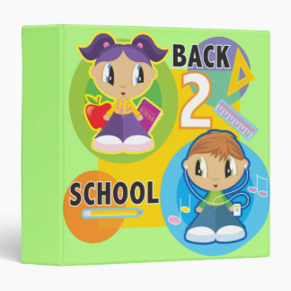 cute back to school kids notebook binders