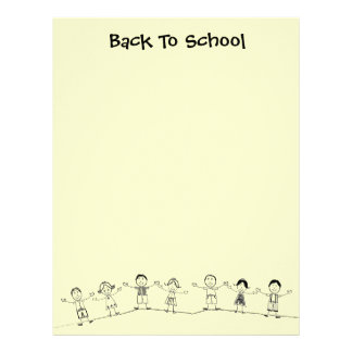 Cute Back To School Stationery Letterhead