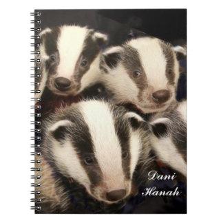 Cute Badger Cubs Notebooks