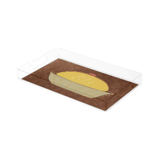 Cute Baker Cake Cook Chef  Add Initials Tray