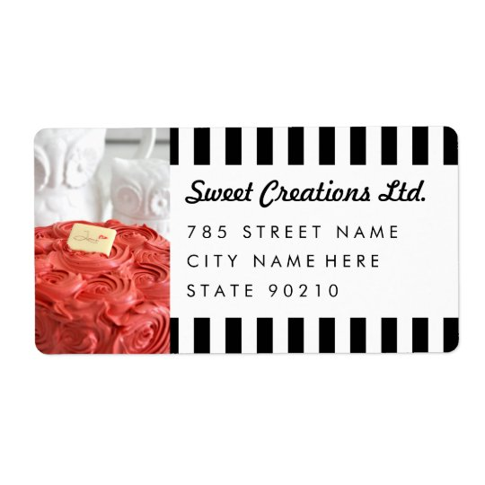 Cute Bakery Cafe Business Shipping Address Lables