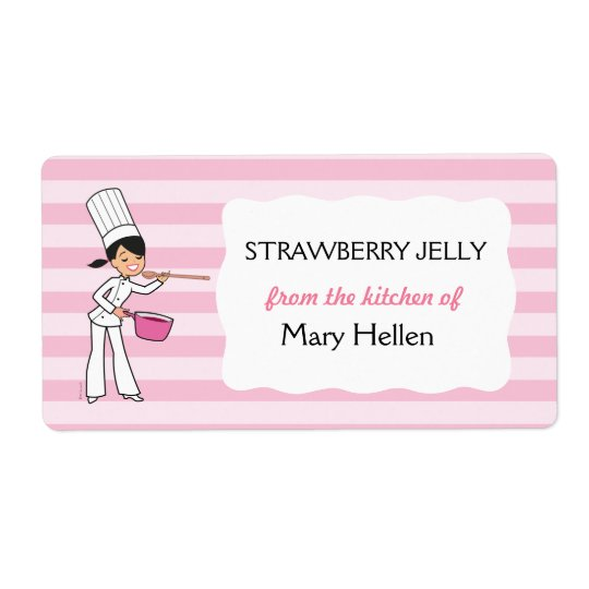 Cute Baking Label For The Kitchen Shipping Label