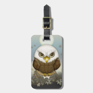 Cute Bald Eagle Luggage Tag