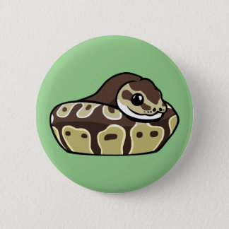 Cute Ball Python Pet Snake Drawing Badge Button