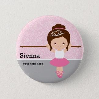 Cute Ballerina 2 Inch Round Button