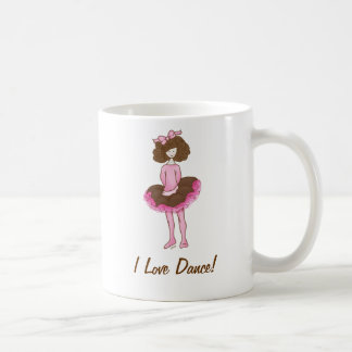 Cute Ballerina - Pink Dancer Coffee Mug