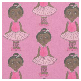 Cute Ballerina Pink Tutu Ballet Girl Dance Teacher Fabric