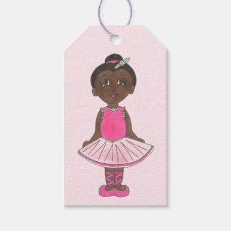 Cute Ballerina Pink Tutu Ballet Girl Dance Teacher Gift Tags