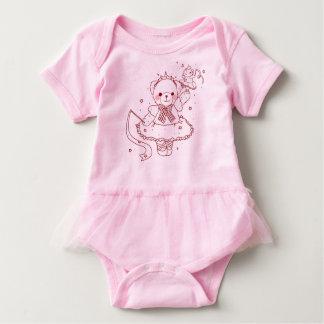 cute ballerina teddy bear and baby bear baby bodysuit