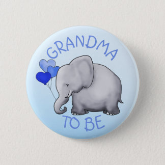 Cute Balloons Elephant Baby Shower Grandma-To-Be 2 Inch Round Button