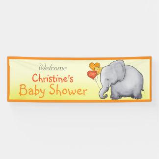 Cute Balloons Elephant Gender-Neutral Baby Shower Banner