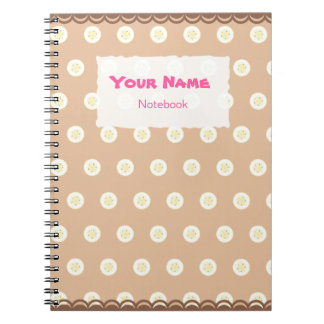 Cute Banana Slices Pattern Notebook