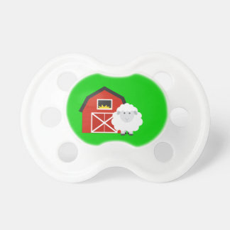 Cute Barn and sheep Farm Gift Baby Pacifier