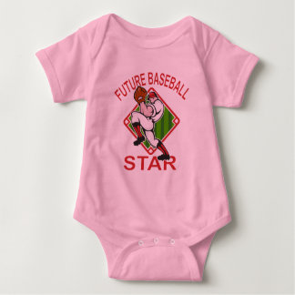Cute Baseball Star Design Baby Bodysuit