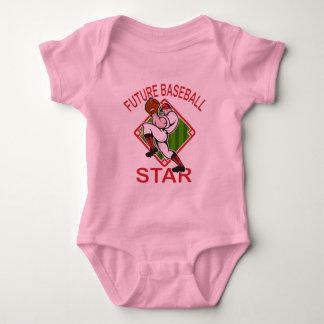 Cute Baseball Star Design T Shirts