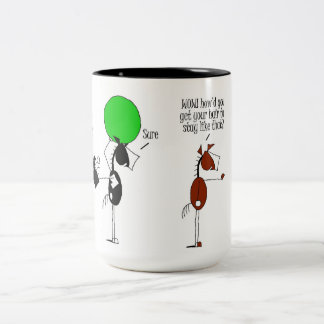 Cute Bashkir Horse Cartoon Two-Tone Coffee Mug