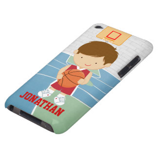 Cute basketball player red basketball jersey iPod Case-Mate case